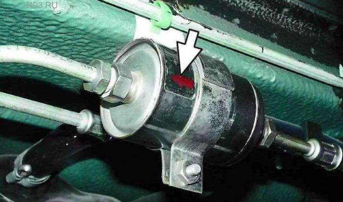 Как поставить топливный фильтр ваз 2114