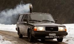 Машина с печью на дровах