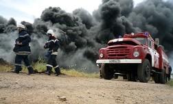 Под Ростовом после взрыва сгорело около 30 автомобилей