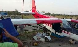 В Шелковском районе Чечни легкомоторный самолет врезался в автомобиль