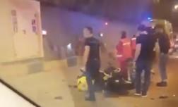 ДТП в Сочи - в Мамайском тоннеле столкнулись КамАЗ и мотоцикл