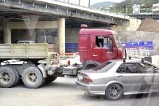 Два ДТП с участием грузовиков в Сочи