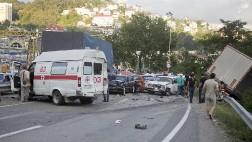 Серьезная авария на Мамайском перевале в Сочи