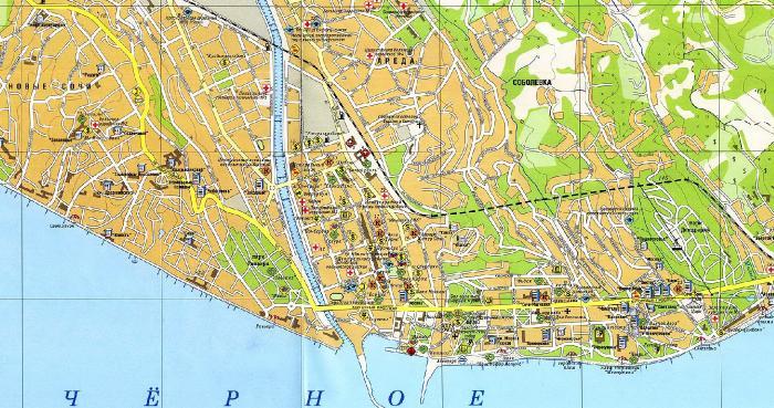 карта достопримечательностей сочи скачать бесплатно - фото 5