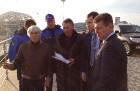 Берни Экклстоун и Дмитрий Козак посетили гоночную трассу в Сочи