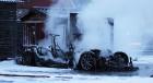 Электромобиль Tesla сгорел во время зарядки