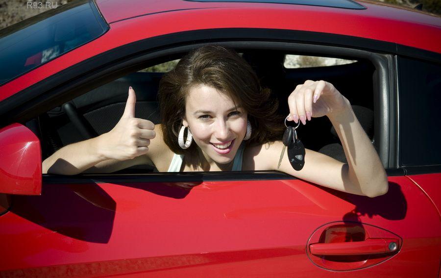 Фото женщина и автомобиль